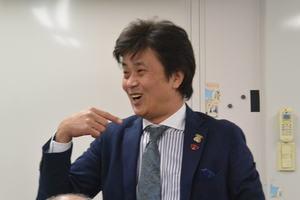 北藤商店会新年会にてヘアーMUSASHIの武蔵20187